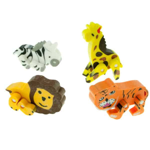 Animal Erasers - Jungle Theme Party Bag Fillers